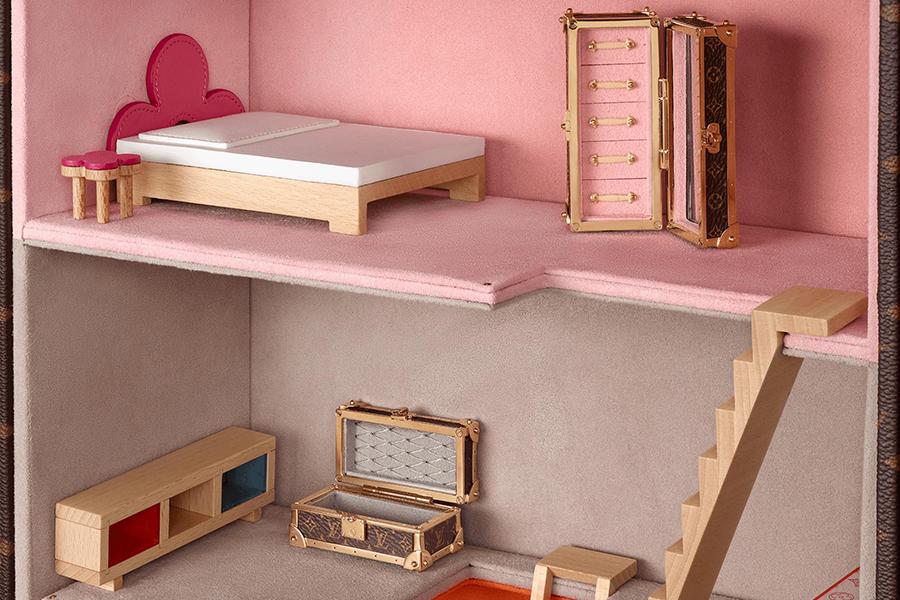 LV Puppenhaus Maison Vivienne Schlafzimmeransicht