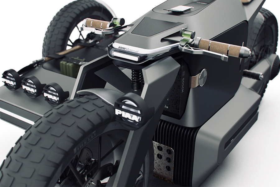 BMW Motorrad x ESMC Offroad Adventure E-Motorradgriff