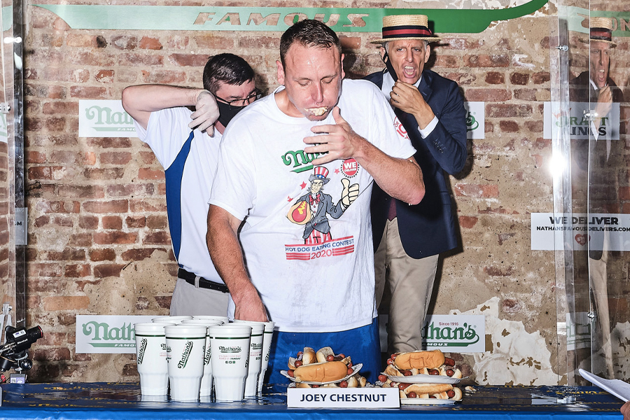 Hot Dog Esswettbewerb