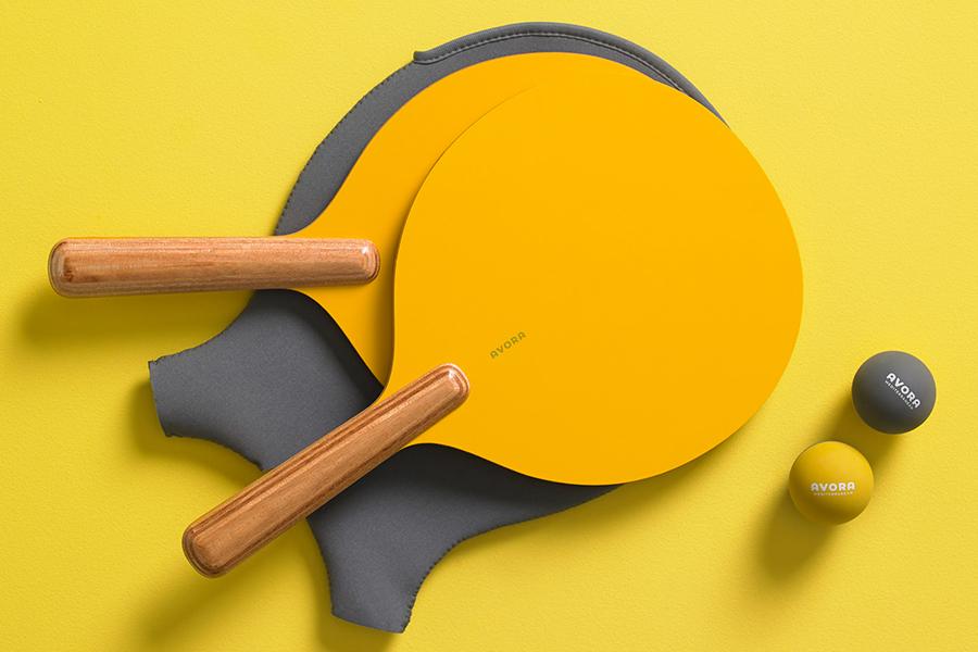 Avora Ping Pong Paddel Set mit Koffer
