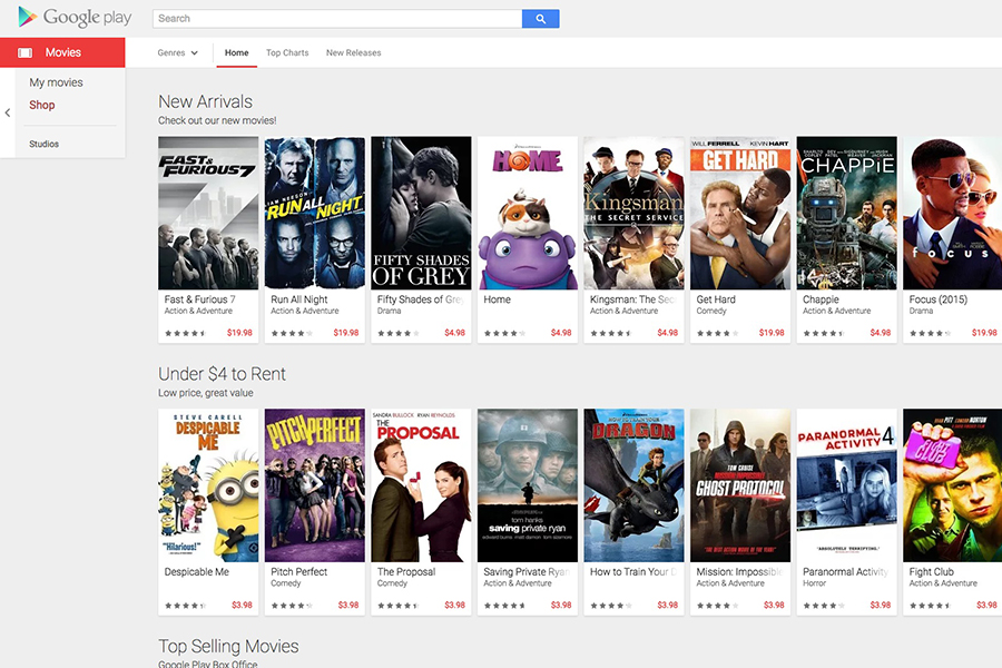 Google Movie Search-Option