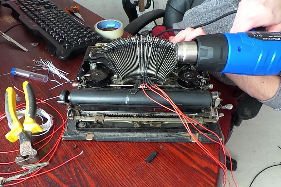 Typewriter Drum Machine