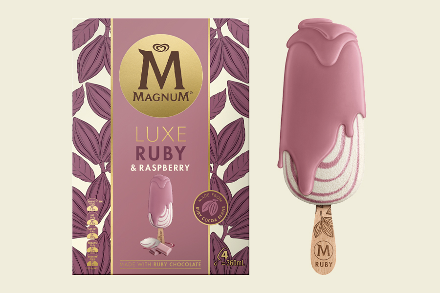 Magnum lässt neues Rubinschokoladeneis fallen