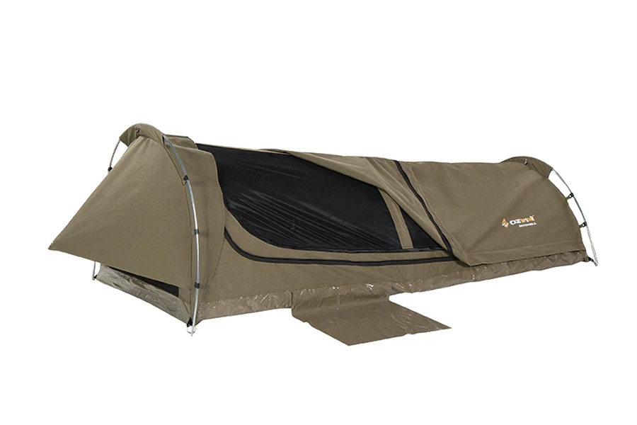 bestes Beutezelt für Camping - MITCHELL DISCOVERY KING SINGLE SWAG