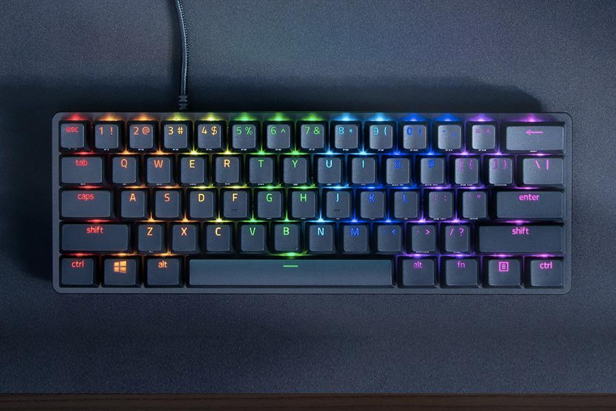 Razers Huntsman Mini bietet 60 Prozent weniger Tastatur