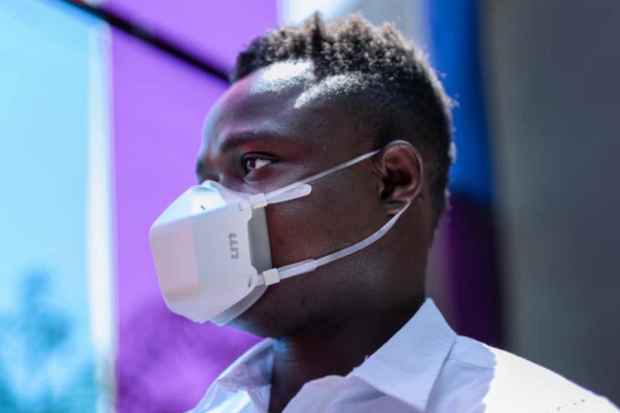 UV-Maske filtert Luft durch wissenschaftlich erprobte UV-Technologie
