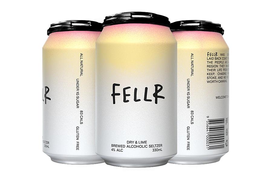 Fellr Seltzer trinkt