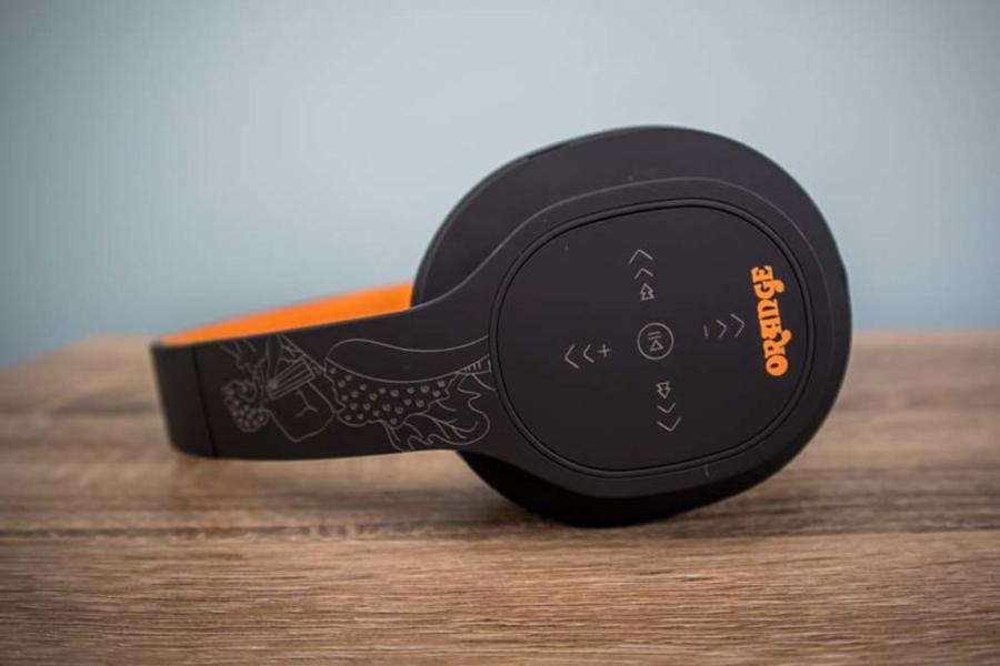 Drahtlose Orange Crest Kopfhörer