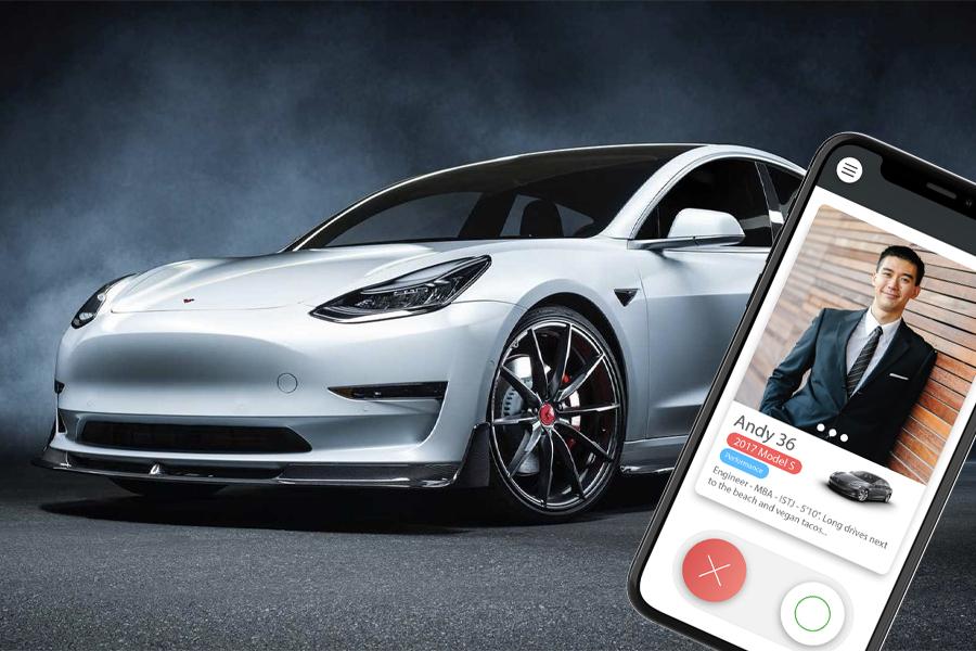 Elon Stans, es gibt eine neue Dating-App ausschließlich für Tesla-Besitzer