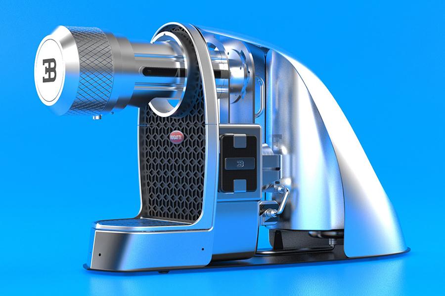 Diese von Bugatti Chiron inspirierte Espressomaschine wird Sie auf Touren bringen