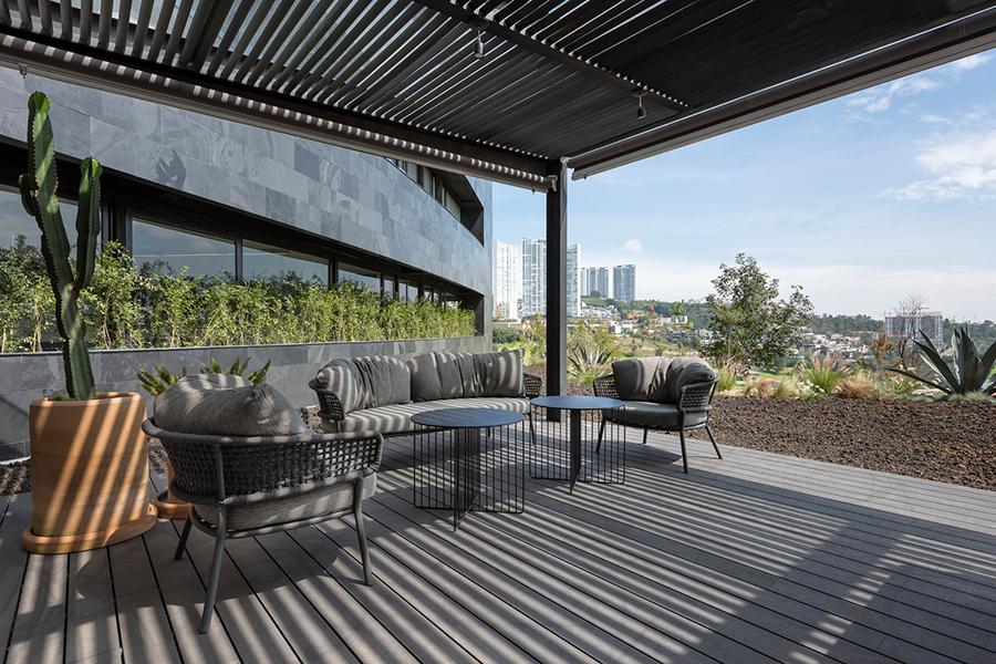 Canto House Studio 91 Blick auf den Balkon