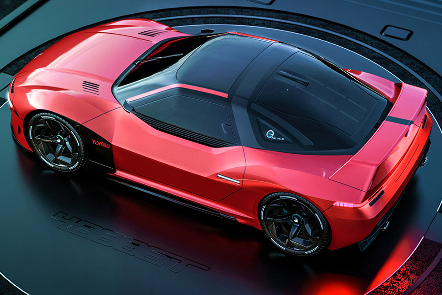 Mitsubshi 4000GT Fan Concept Draufsicht