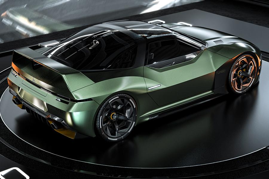 Rückansicht des Mitsubshi 4000GT Fan Concept