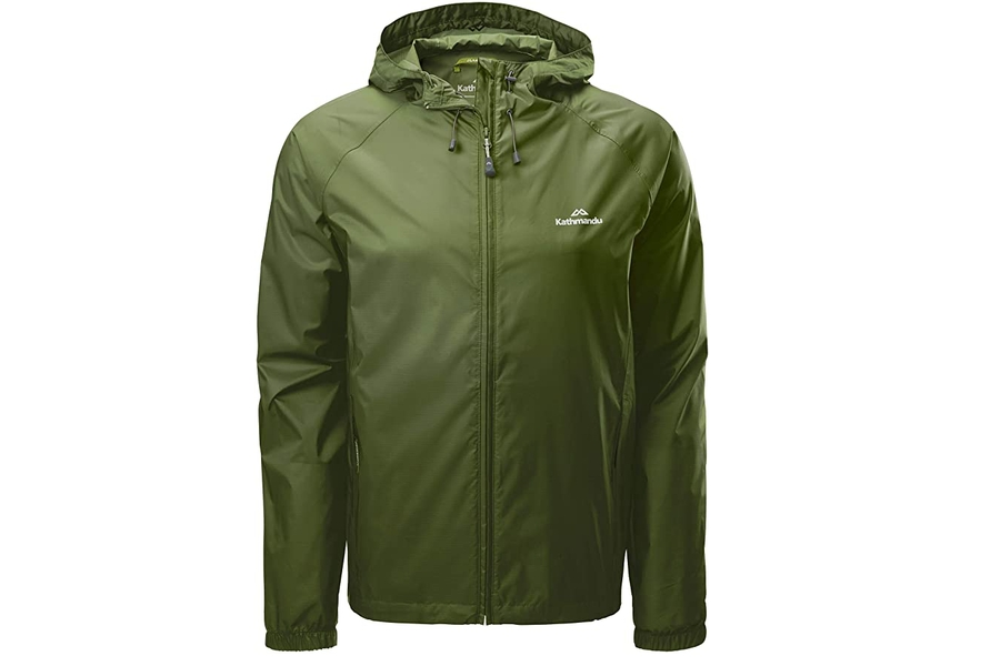 Kathmandu Pocket-it Men's Hooded Water Resistant Packaway Light Rain Jacket