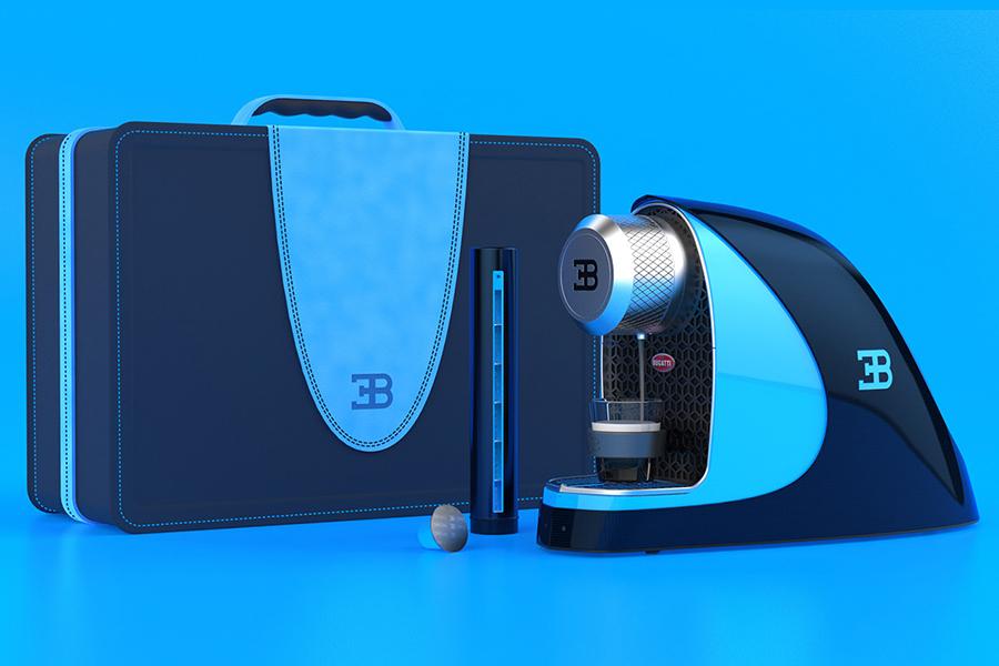 Bugatti Etiron Espressomaschine mit Tragetasche
