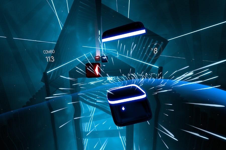 Rhythmus-Virtual-Reality-Spiel