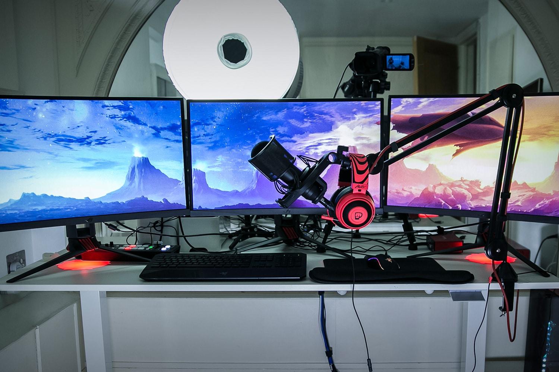 Pewdiepie Kamera Schreibtisch Setup Studio