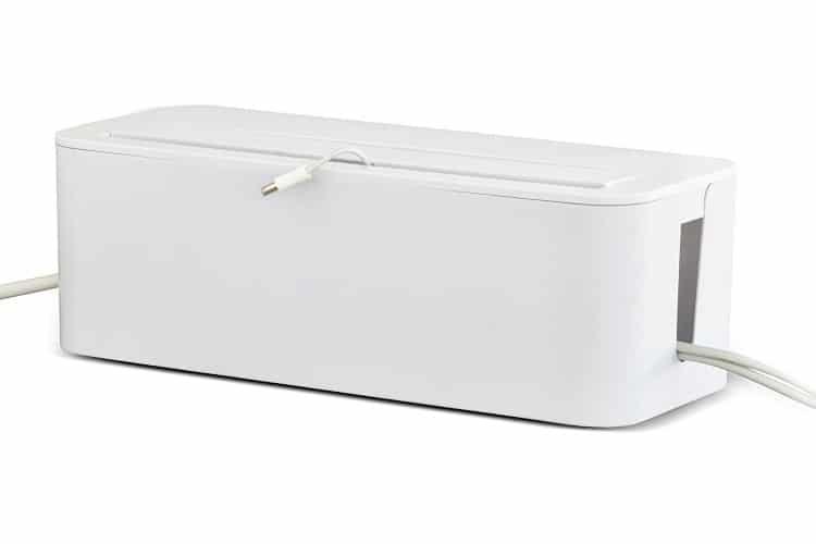 weiße Kabelmanagementboxen