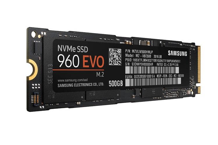 500gb samsung 960 evo m.2 ssd