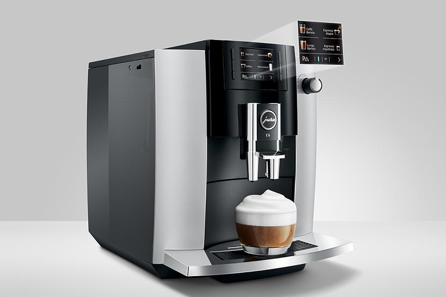 Jura E6 kocht perfekten Kaffee mit nur einem Knopfdruck
