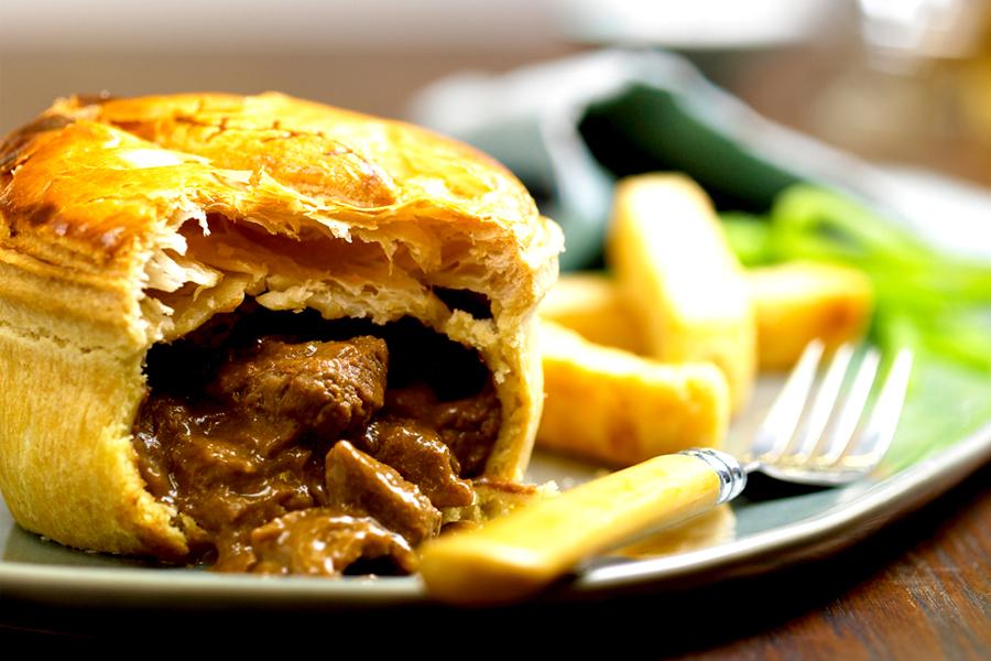 Australisches Essen - Fleischpastete