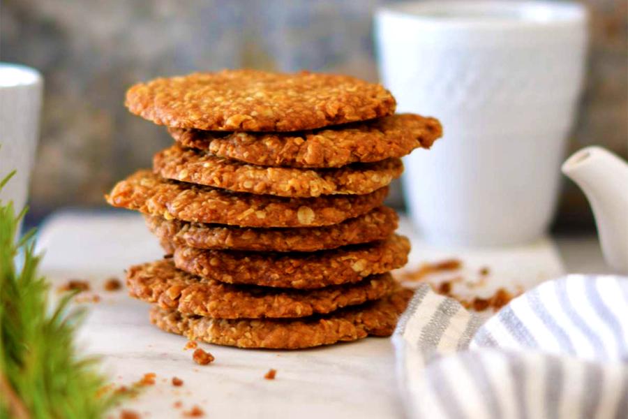 Australisches Essen - ANZAC Kekse