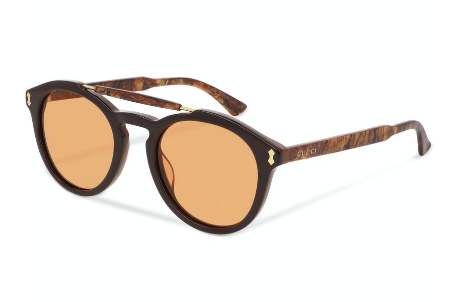 Gucci Round-Frame Acetate Sonnenbrille