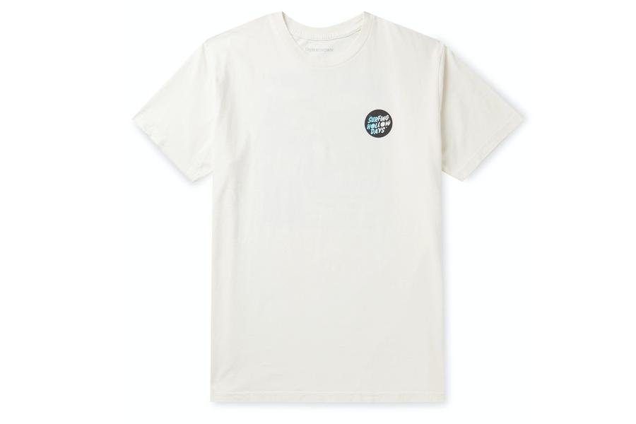 Outerknown Bedrucktes T-Shirt aus Bio-Baumwolljersey