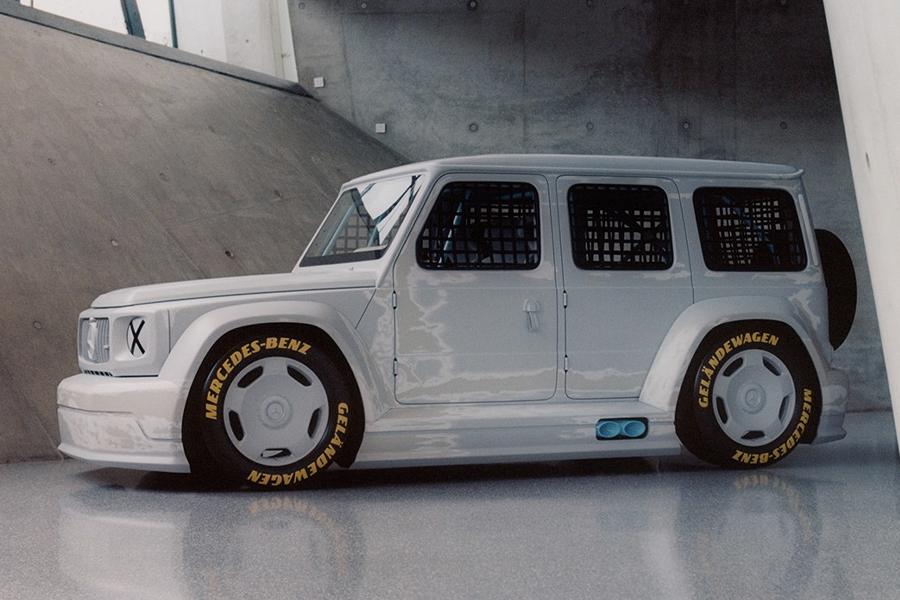 Die Mercedes-Benz G-Klasse von Virgil Abloh dreht sich um