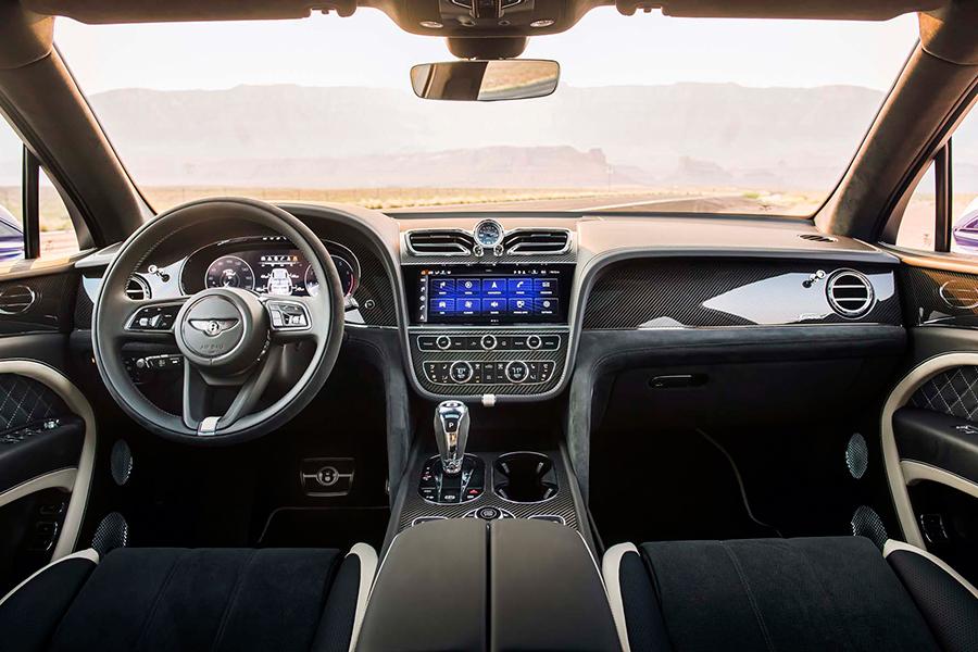 Bentley Bentayga Speed Dashboard