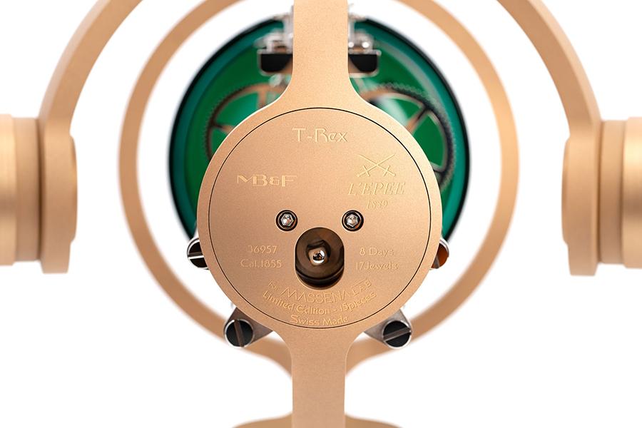 T-REX Bronze Uhr Rückansicht