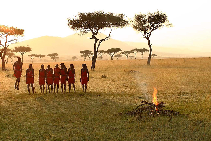 & Beyond Connect Virtueller Safaris-Ritualtanz