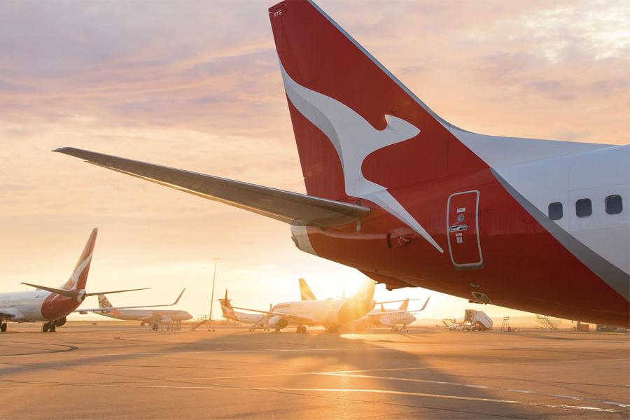 Qantas Flug ins Nirgendwo