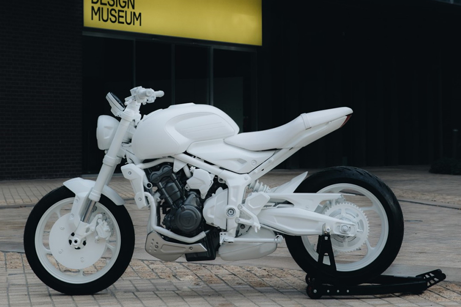 Triumph Motorräder Dreizack-Konzept