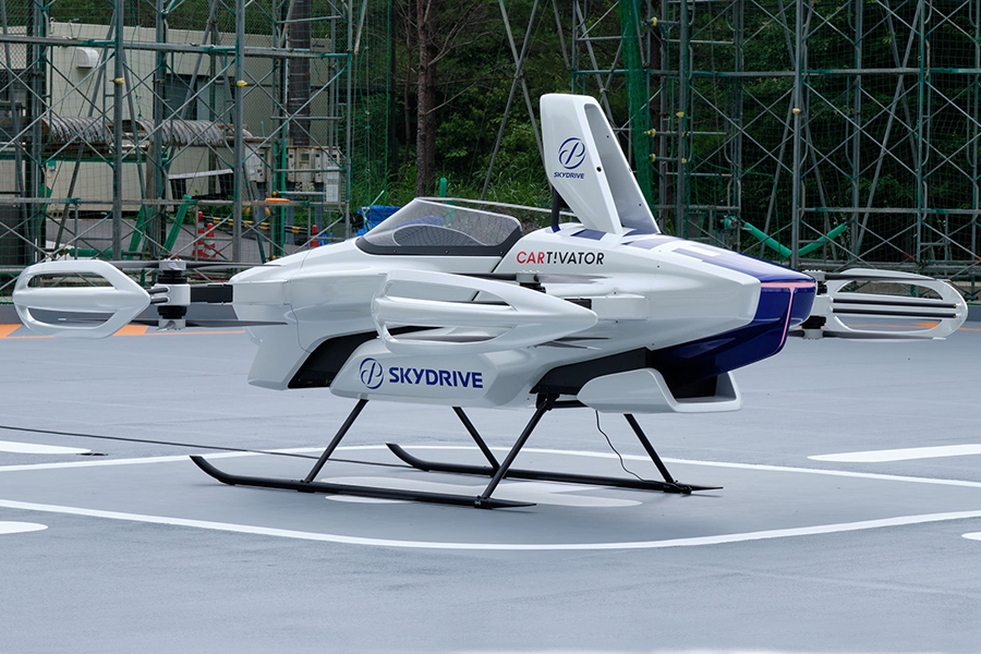 SkyDrive Flying Car Seitenansicht