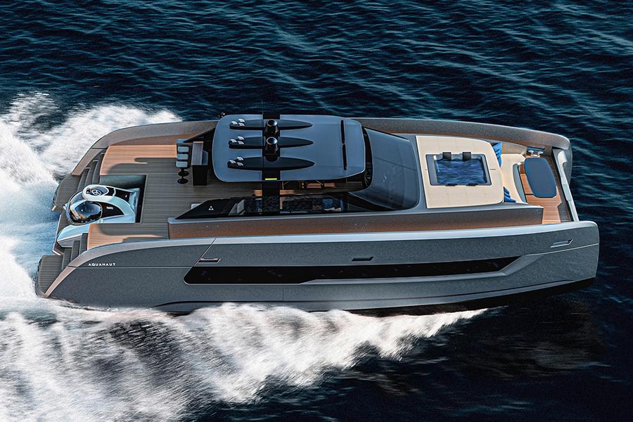 Aquanaut Yacht Seitenansicht
