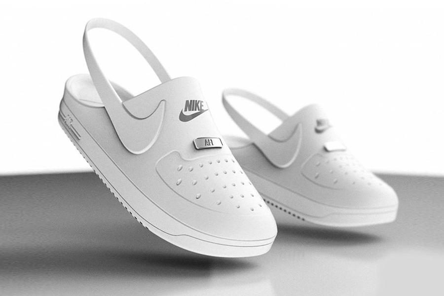Möchten Sie diese Crocs x Nike Air Force 1 Clog Hybrids rocken?