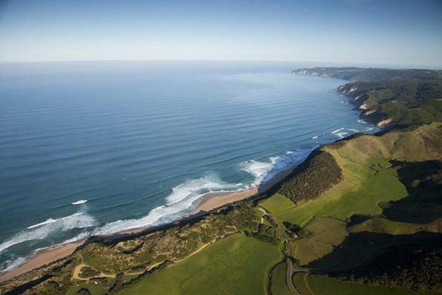 Johanna Beach Luftaufnahme