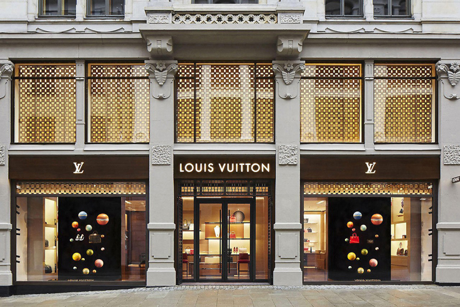Louis Vuitton Eingang des Restaurants
