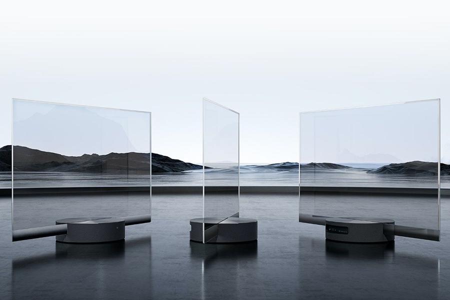Xiaomi Seethrough TV verschiedenen Blickwinkel