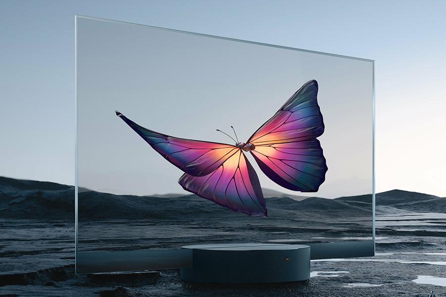 Mi TV LUX Transparent TV ist vollständig durchsichtig