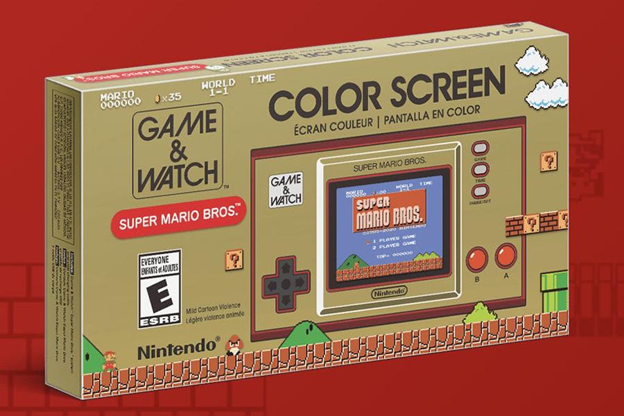 Game and Watch legte die originalen Super Mario Bros auf eine Handheld-Box