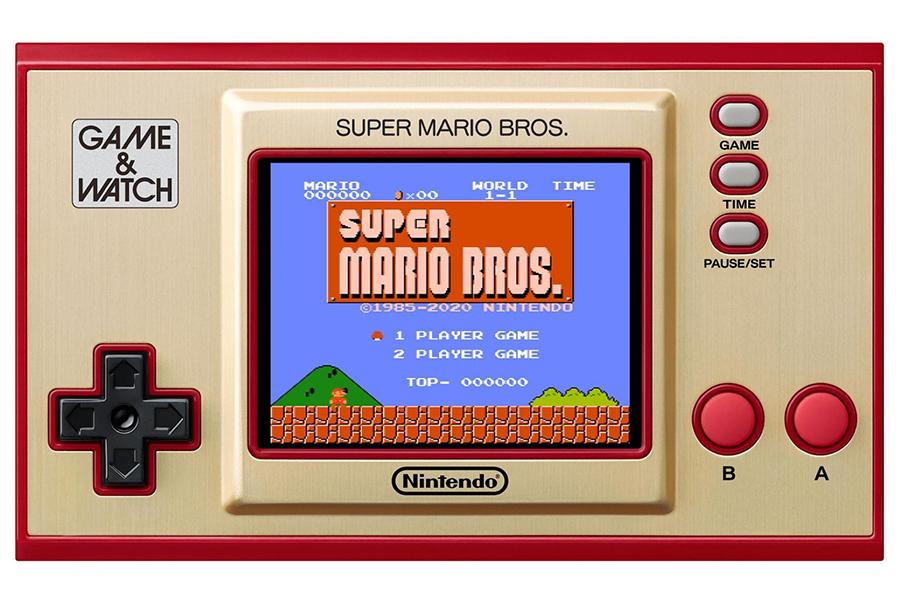 Game and Watch hat die originalen Super Mario Bros auf eine Handheld-Vorderseite gelegt