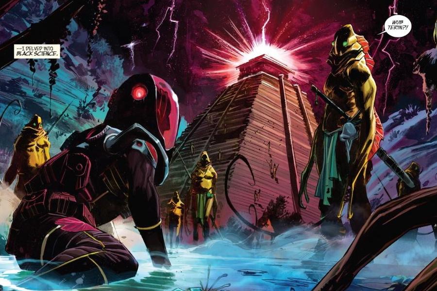 schwarze Wissenschafts-Comic-Zelle
