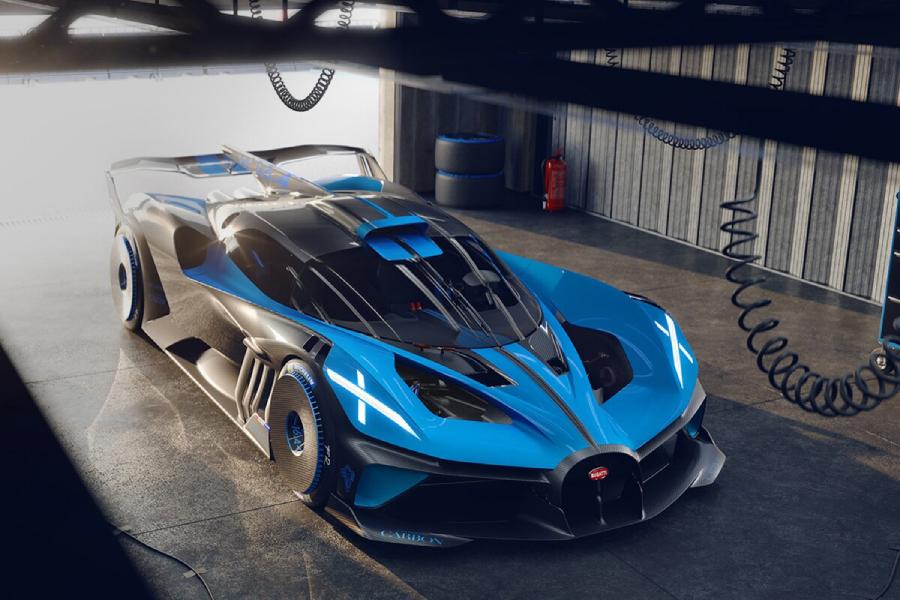 Der Bugatti Bolide Hypercar mit 1.824 PS kann 500 km / h erreichen