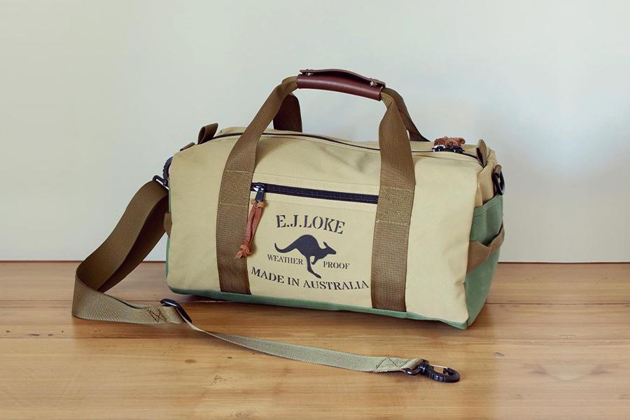 E.J. Loke Canvas Taschen sind Aussie-Made Toughness