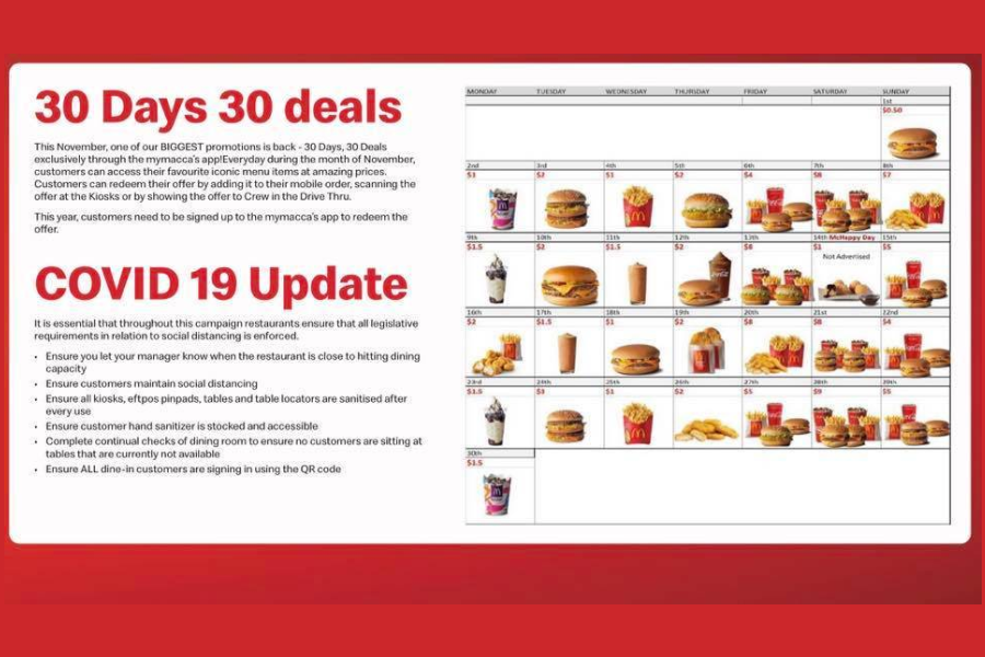 McDonald's 30 Tage 30 Angebote