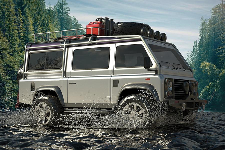 Land Rover Defender Van Vorderseite