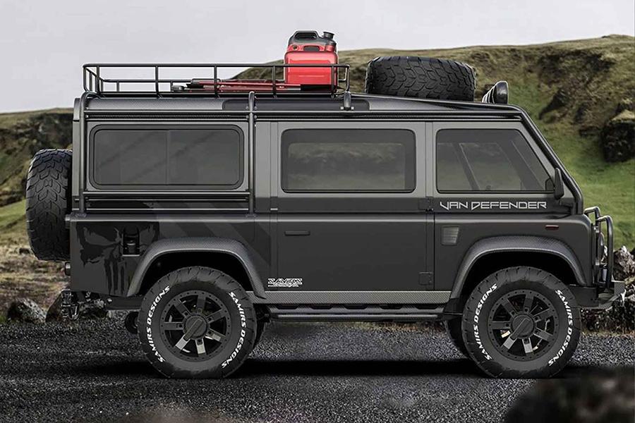 Land Rover Defender Van Seitenansicht