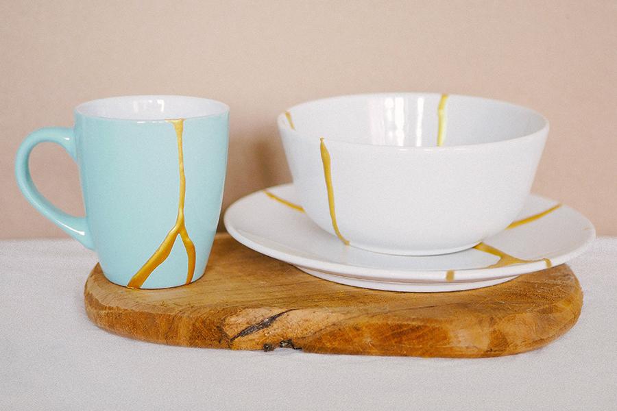 DIY Kintsugi Kit feste Keramik